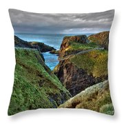 Carrick-a-rede Rope Bridge Throw Pillow
