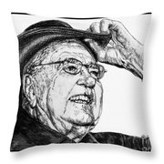 Carroll Shelby In 2006 Throw Pillow