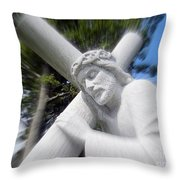 Carrying The Cross Throw Pillow