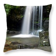Cascading Falls Throw Pillow