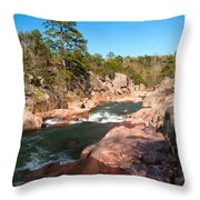 Castor River Shut Ins Throw Pillow