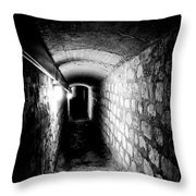 Catacomb Tunnels In Paris France Throw Pillow
