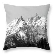 Cathedral Group Grand Teton National Throw Pillow