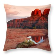 Cathedral Rock Reflection Throw Pillow
