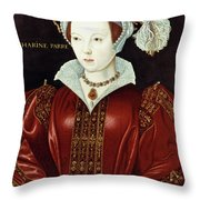 Catherine Parr (1512-1548) Throw Pillow