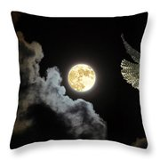 Caught By The Moon Throw Pillow