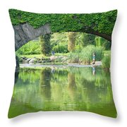 Central Park Gapstow Bridge II Throw Pillow