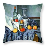Cezanne's The Peppermint Bottle Throw Pillow