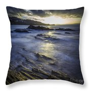 Chamoso Point In Ares Estuary Galicia Spain Throw Pillow