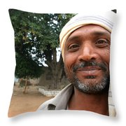 Chanderi Man Throw Pillow