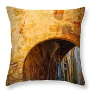 Chania Alley Throw Pillow