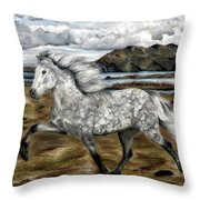 Charismatic Icelandic Horse Throw Pillow