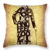 Charles Chaplin Quote Typography Art Throw Pillow
