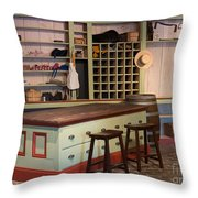 Charles Lohman's General Store Throw Pillow