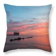 Charleston Harbor Sunset Throw Pillow