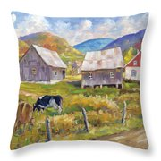Charlevoix North Throw Pillow