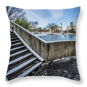 Charlotte North Carolina Marshall Park In Winter Throw Pillow