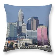 Charlotte Skyline Throw Pillow by Jill Lang