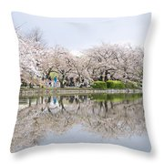 Cherry Blossoms In Tokyo Throw Pillow