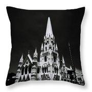 Black And White Basilica Throw Pillow