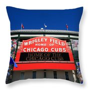 Chicago Cubs - Wrigley Field Throw Pillow