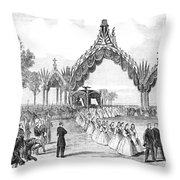 Chicago Lincoln Funeral Throw Pillow