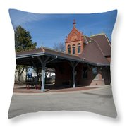 Chicago Rock Island Pacific Railway Depot Throw Pillow