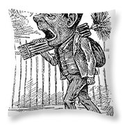 Chimney Sweep Throw Pillow