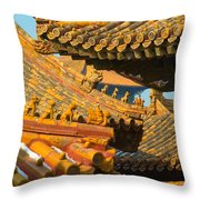 China Forbidden City Roof Decoration Throw Pillow