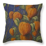 Chinese Lanterns Throw Pillow