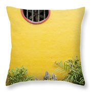 Chinese Temple Garden Detail In Vietnam Throw Pillow