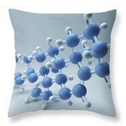 Cholesterol Molecule Throw Pillow