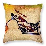 Chopper Art Throw Pillow