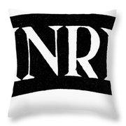 Christian Monogram Throw Pillow