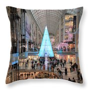 Christmas Shopping In Toronto Throw Pillow