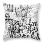 Christopher Columbus (1451-1506) Throw Pillow