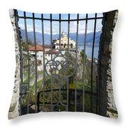 Church Madonna Del Sasso Throw Pillow