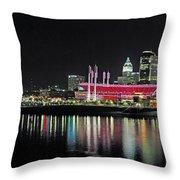 Cincinnati Skyline 3 Throw Pillow