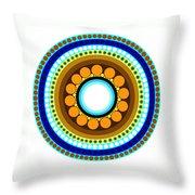 Circle Motif 214 Throw Pillow