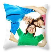 Circle Of Best Friends Throw Pillow