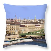 City Of Budapest In Hungary Throw Pillow