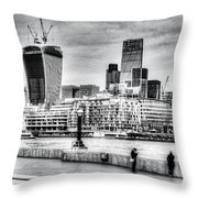 City Of London Throw Pillow