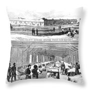 Civil War Hospital Throw Pillow