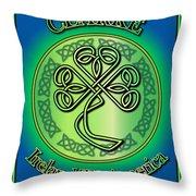 Clarke Ireland To America Throw Pillow