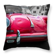 Classic Red P Sports Car Throw Pillow