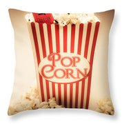 Classic Vintage Cinema Throw Pillow