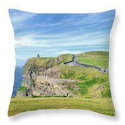 Cliffs Of Moher In Ireland Throw Pillow