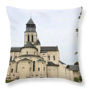 Cloister Fontevraud -  France Throw Pillow