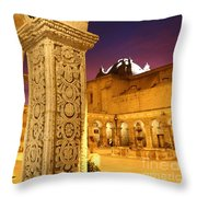 Cloisters At Sunset Arequipa Throw Pillow
