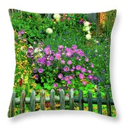 Close-up Of Flowers, Muren, Switzerland Throw Pillow
